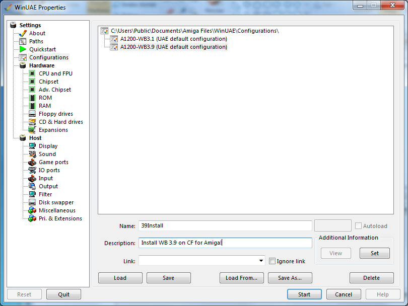 How to install WB 3 9 on a physical CF Card from WinUAE – Part 1/2